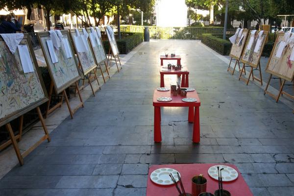 Pintura Sevilla niños