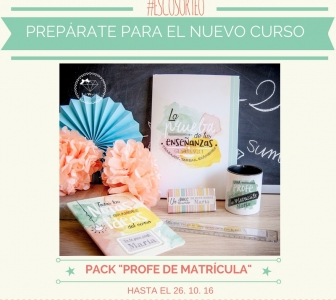 "ESCOSORTEO: PACK ""PROFE DE MATRÍCULA"""