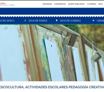 3…2…1… ¡Escocultura – Pedagogía Creativa, estrena nueva web!