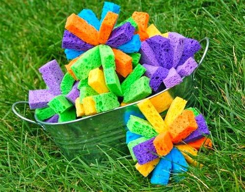 actividades para niños con esponjas